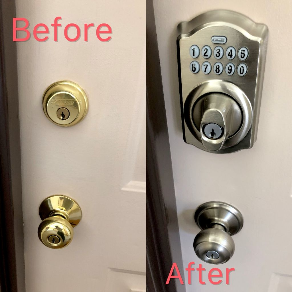 New lock replacement