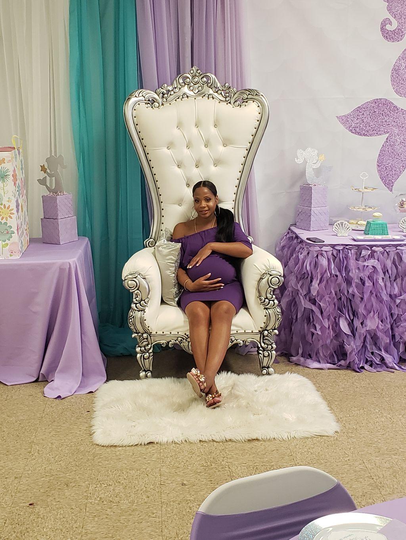 Mermaid themed baby shower