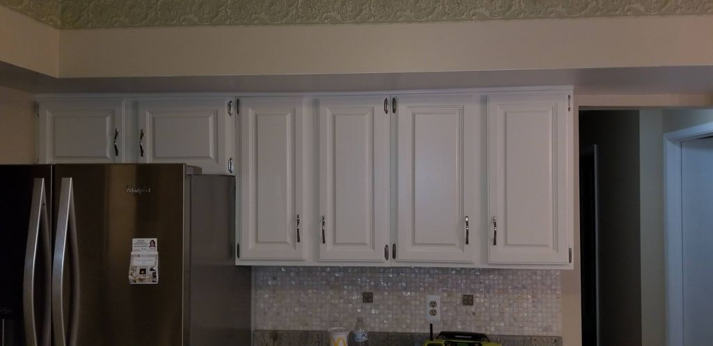 refinished and painting of wood cabinets