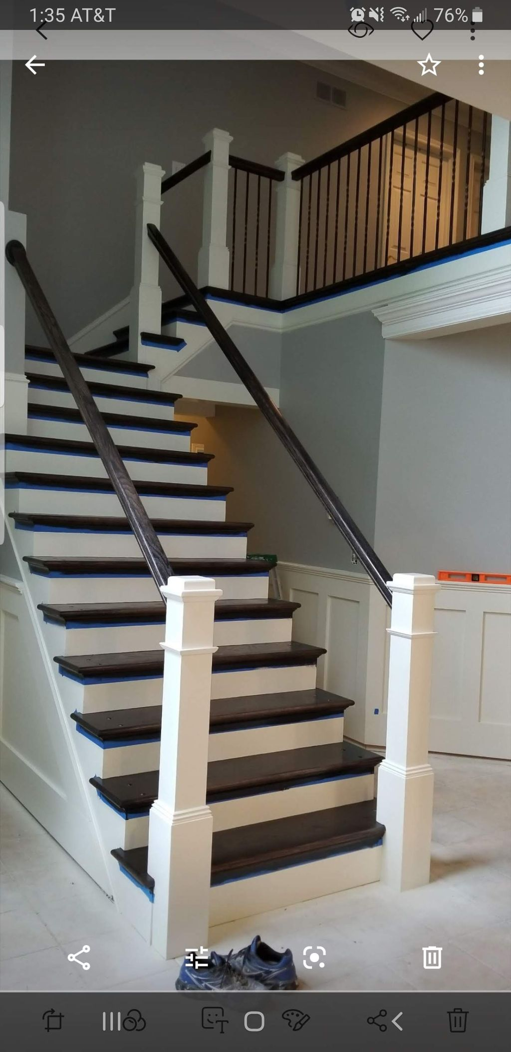 painting and staining of stairs