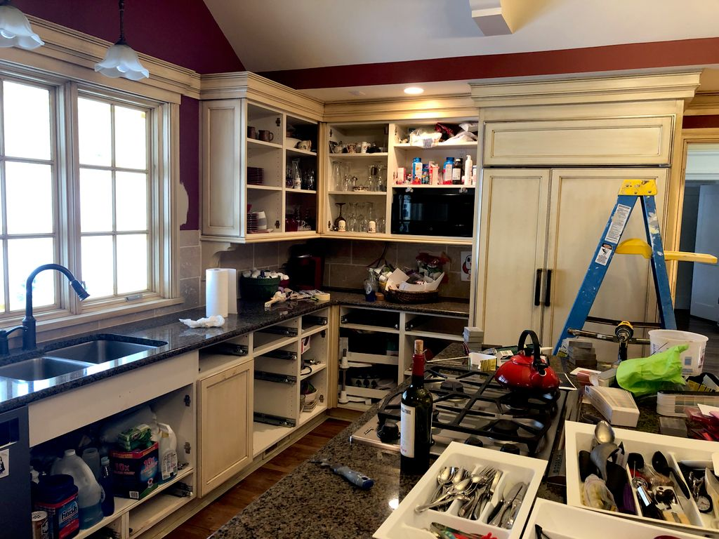 Kitchen cabinets and trim