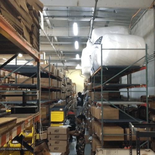 Distribution Center Warehouse in La Mirada. Network design, engineer, implementation. Fiber long distance Ethernet.