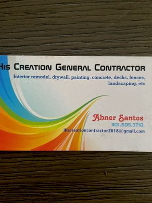 Avatar for His Creation General Contractor Inc. Columbia, MD Thumbtack