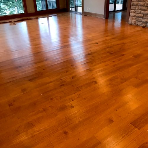 1 inch thick oak floor before picture