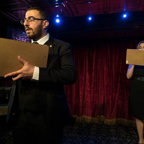 Performing at the world famous Magic Castle in Hollywood, California.