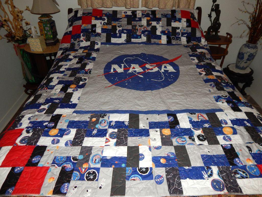 NASA theme quilt
