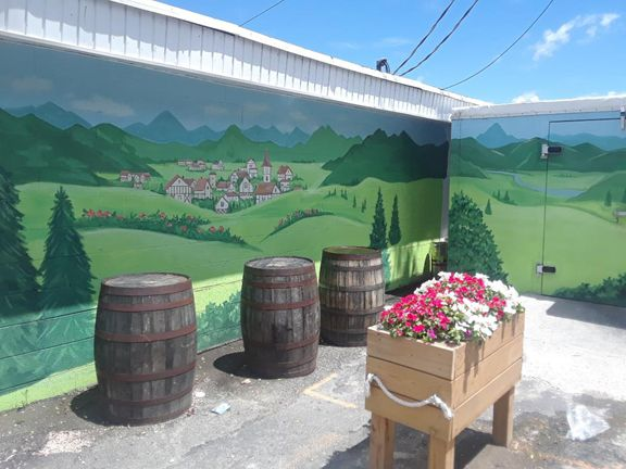 Outdoor patio painting