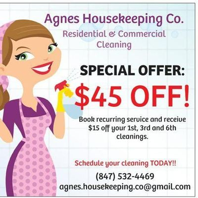 Avatar for Agnes Housekeeping Co Schaumburg, IL Thumbtack