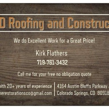 Avatar for K&D Roofing and Construction Colorado Springs, CO Thumbtack