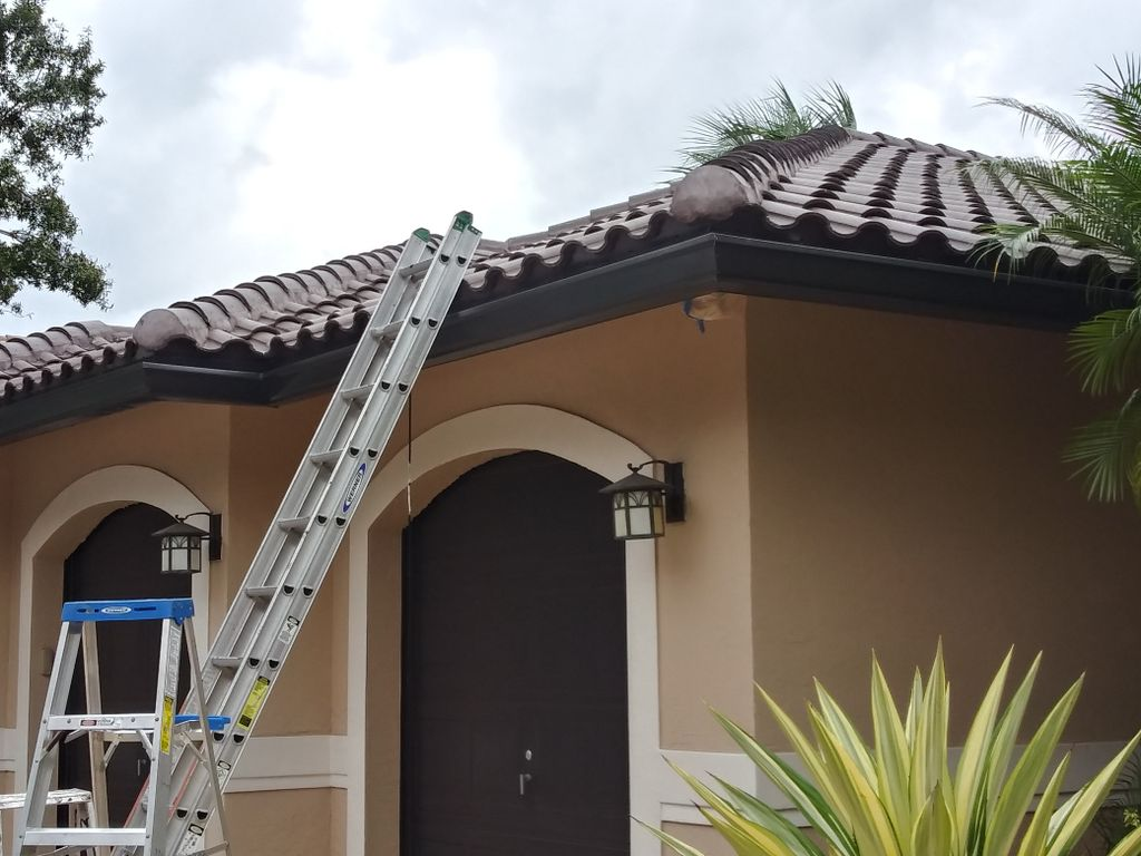 Exterior paint and gutter install