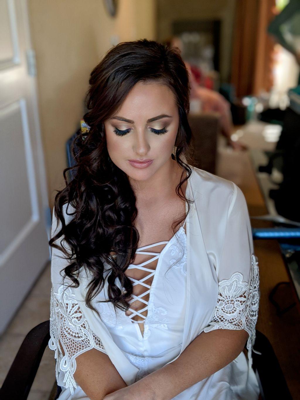 Wedding bridal party hair and makeup