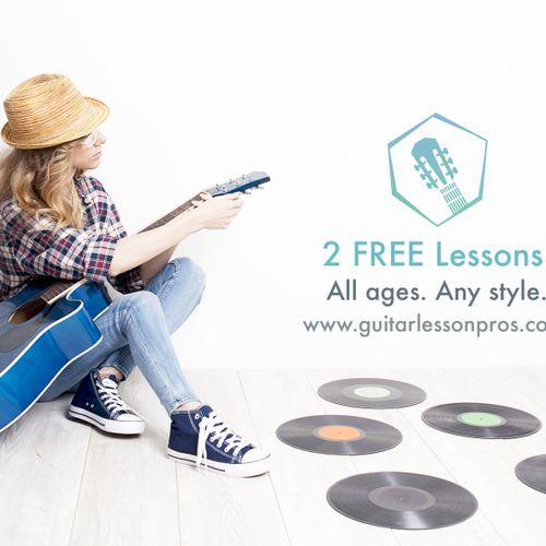 2 FREE Lessons at Guitar Lesson Pros Nashville