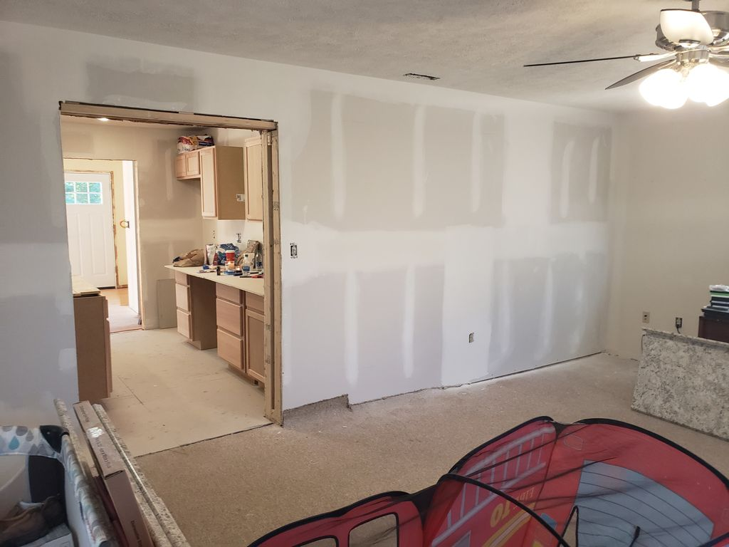 Drywall Hung, and finished