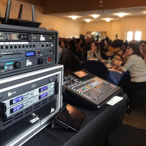 Conference/panel discussion audio for corporate events