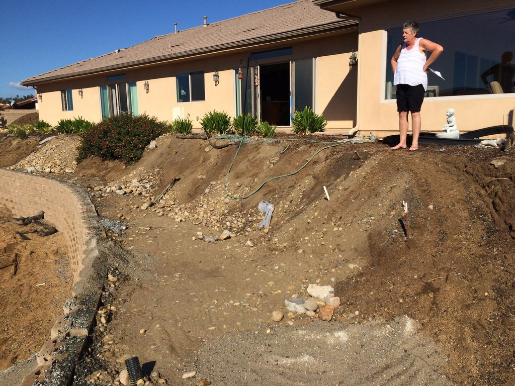 Back yard decking