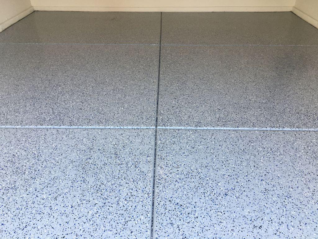 2 Car Garage Floor Installation