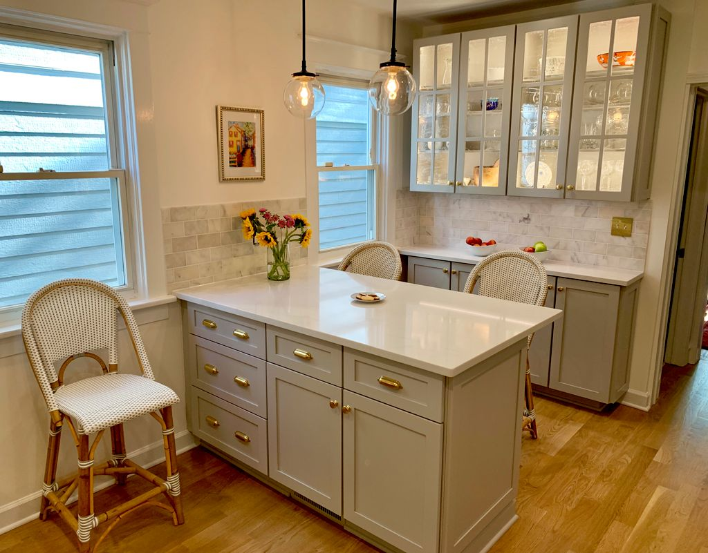 Cabinet color change and farm sink addition