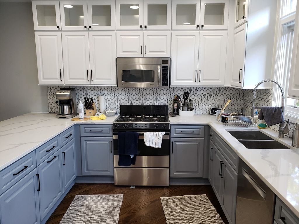 New Over Cabinets and refinishing of cabinets