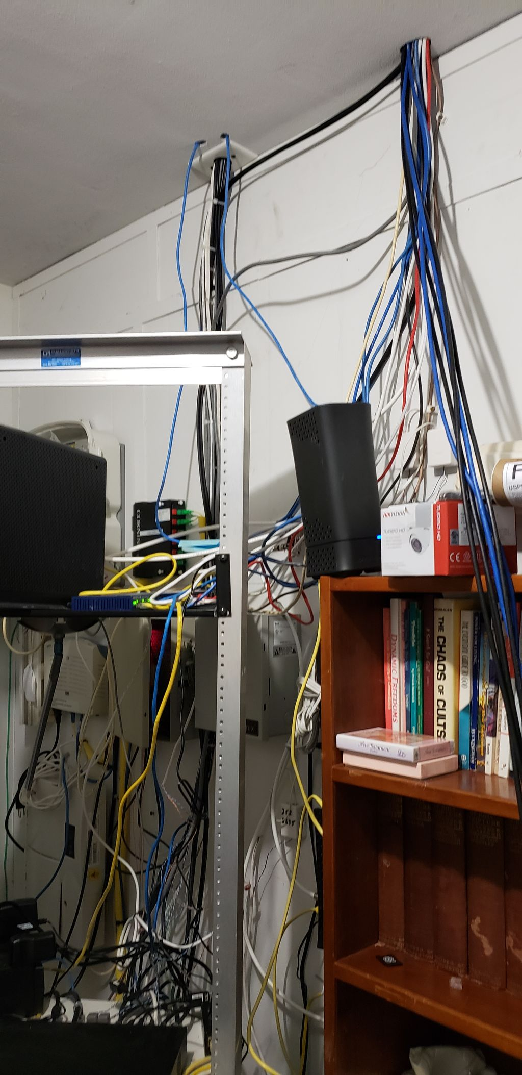 Network upgrade and wiring clean up