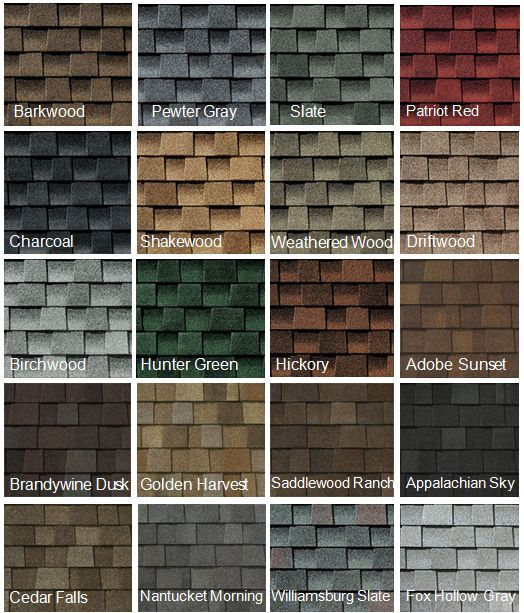 Architectural Roofing Colors