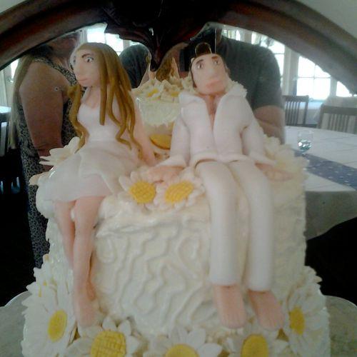 Fondant Wedding Cake Topper