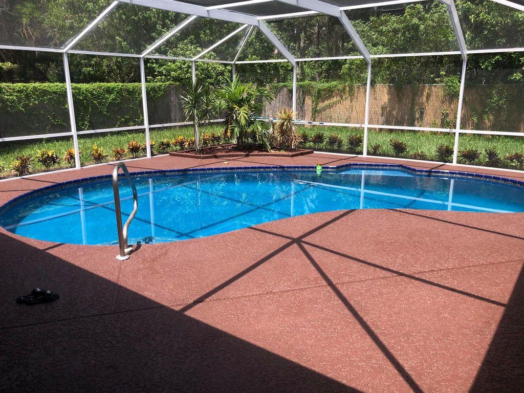 Pool resurfaced