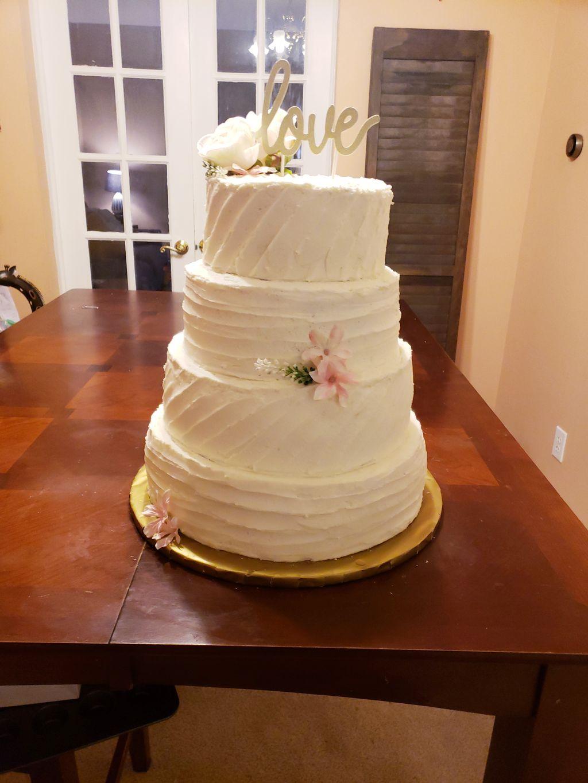 4 tier wedding cake 170 guests