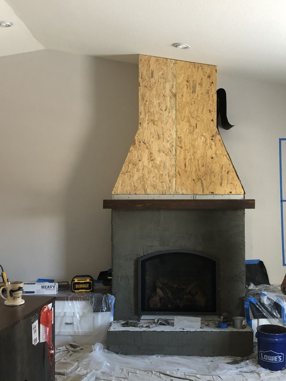 Lodge style Fireplace
