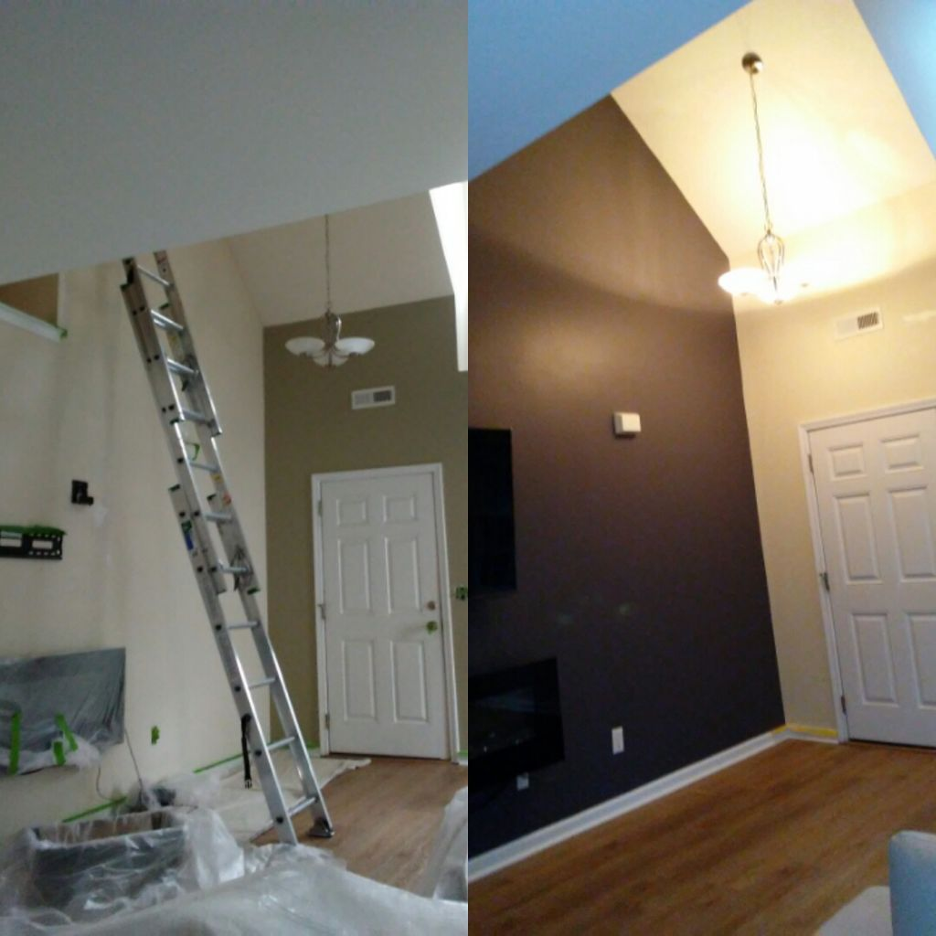 Walls Before and after