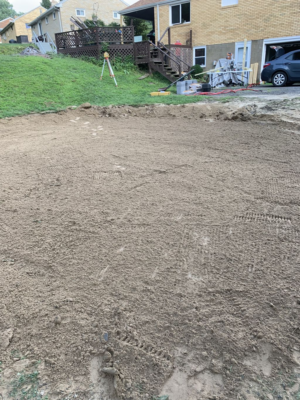 Leveling for above ground pool