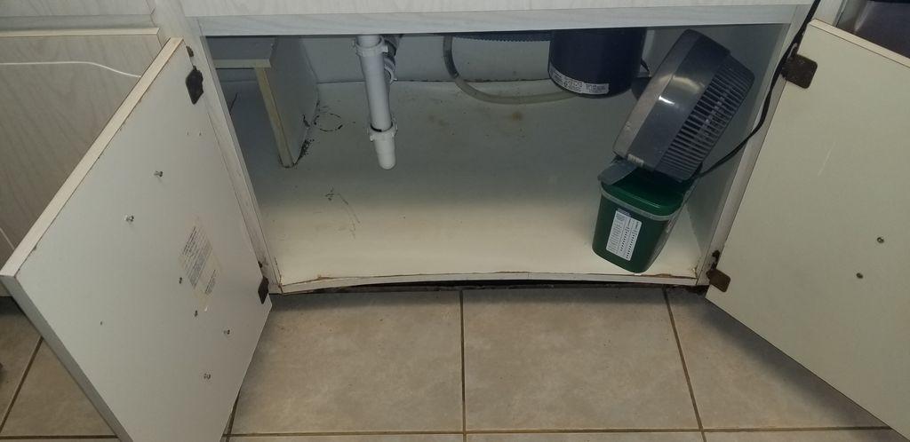 Water Damage Cabinet Rebuild