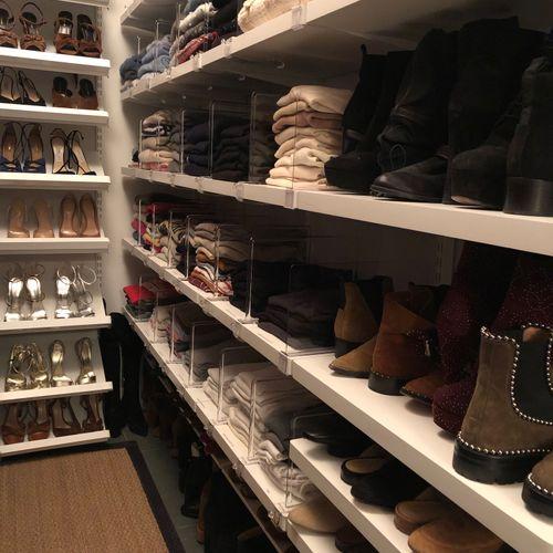 West Village:  closet edit and redesign