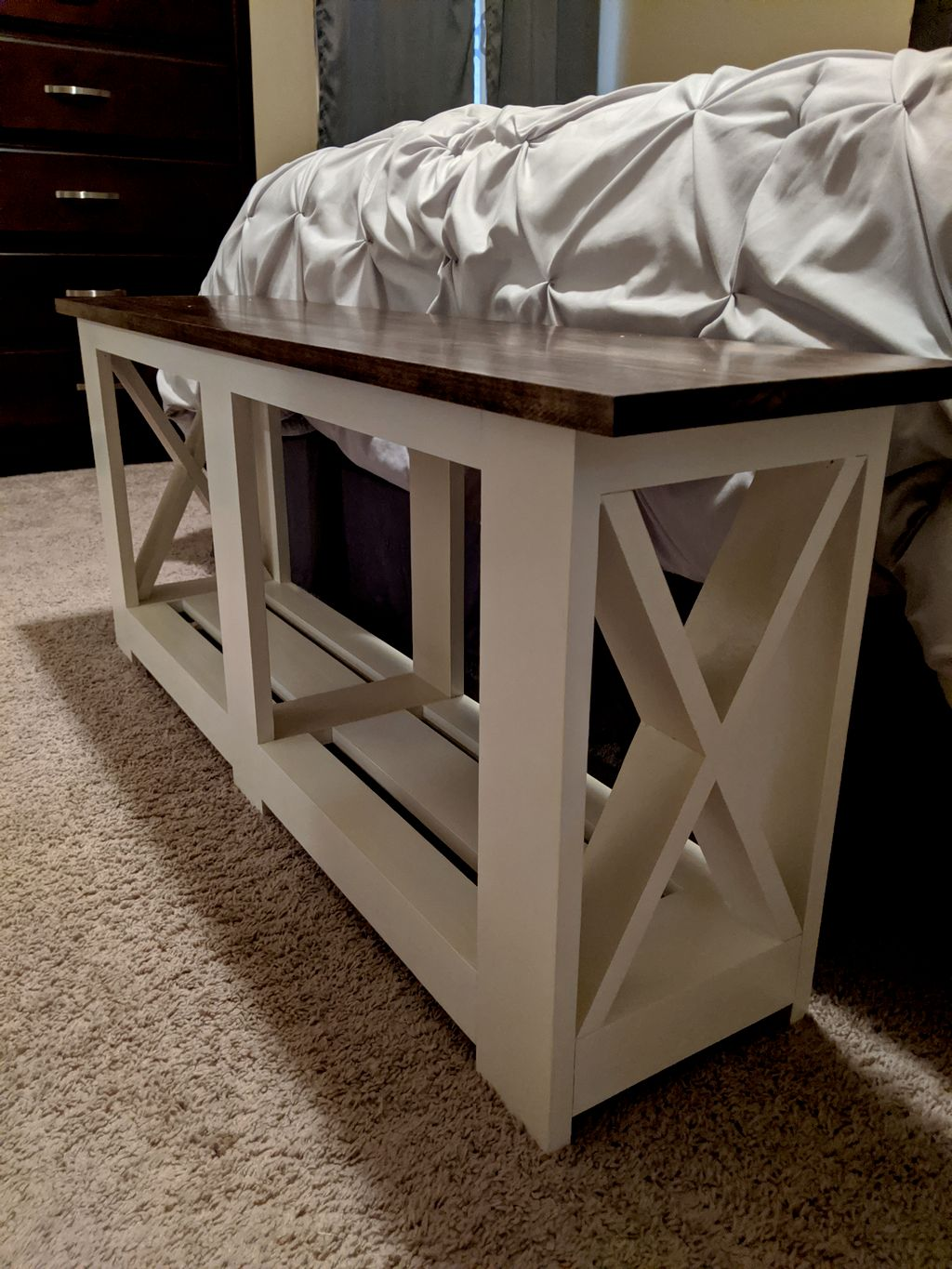 Custom Bedside Bench