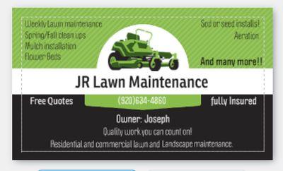 Avatar for JR Lawn maintenance De Pere, WI Thumbtack