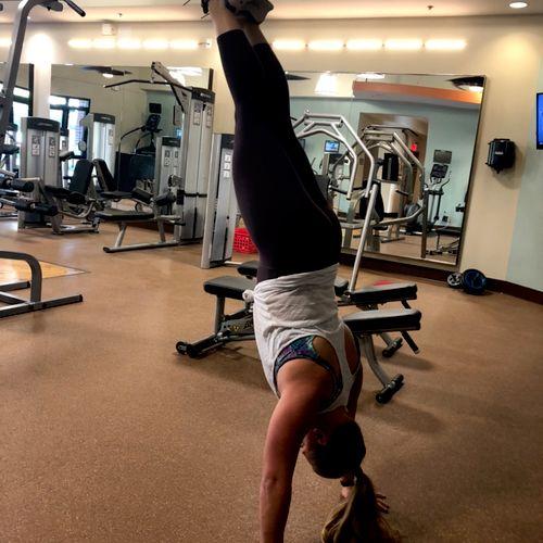 TRX handstand push-ups!