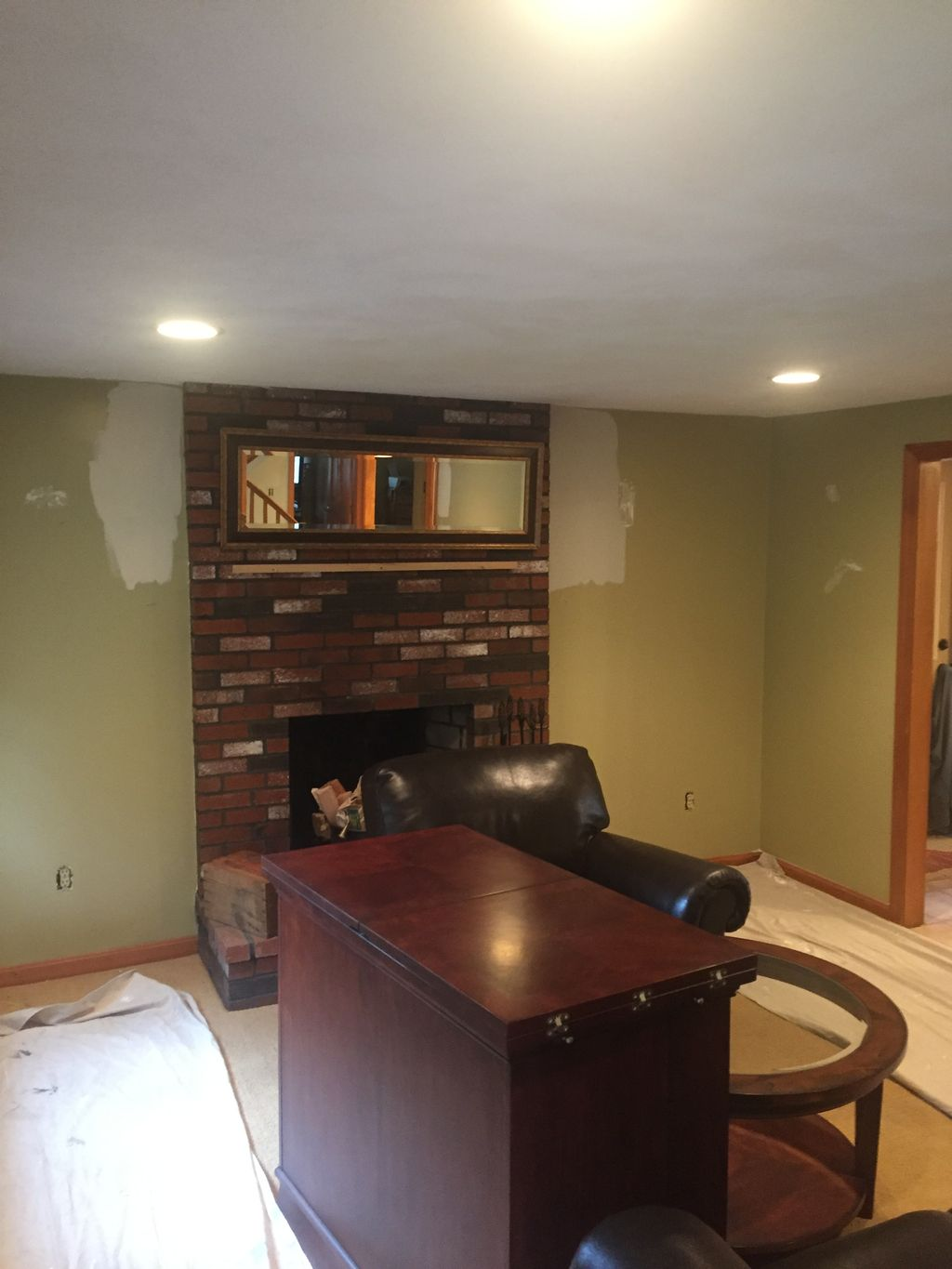Fireplace Lime Wash
