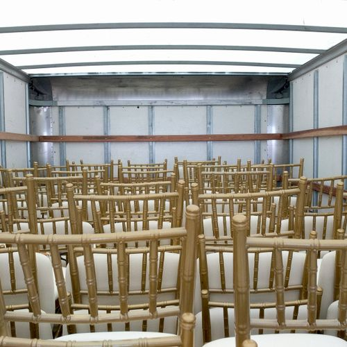 Chiavari chairs ready for delivery.