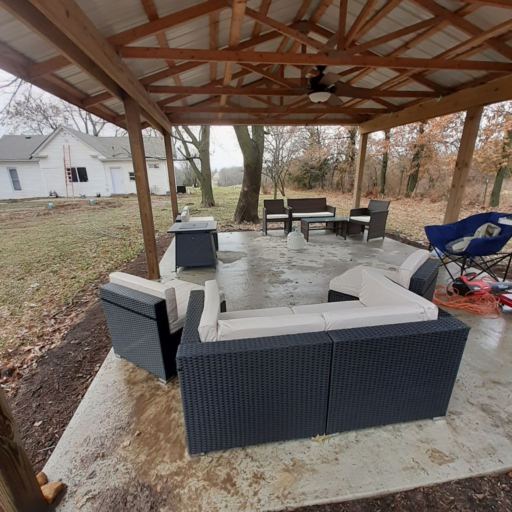 Outdoor Furniture,  Fire Table and Flood light Job