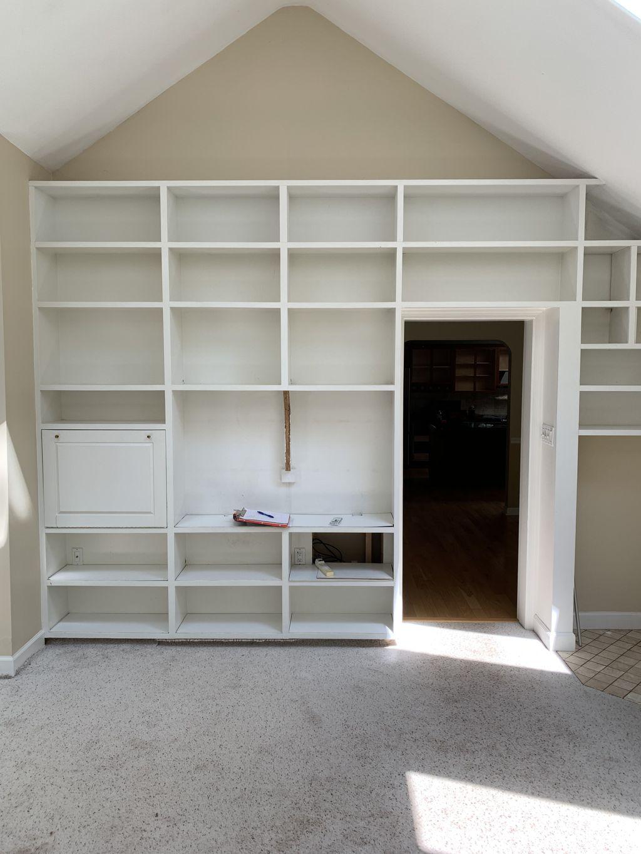 Living Room Built-in & Faux Beam