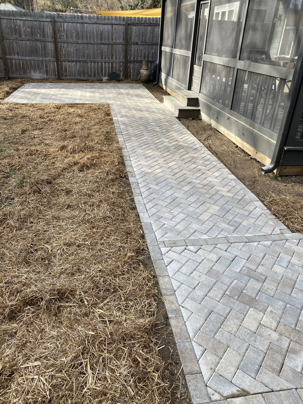 Paver patio and walkway