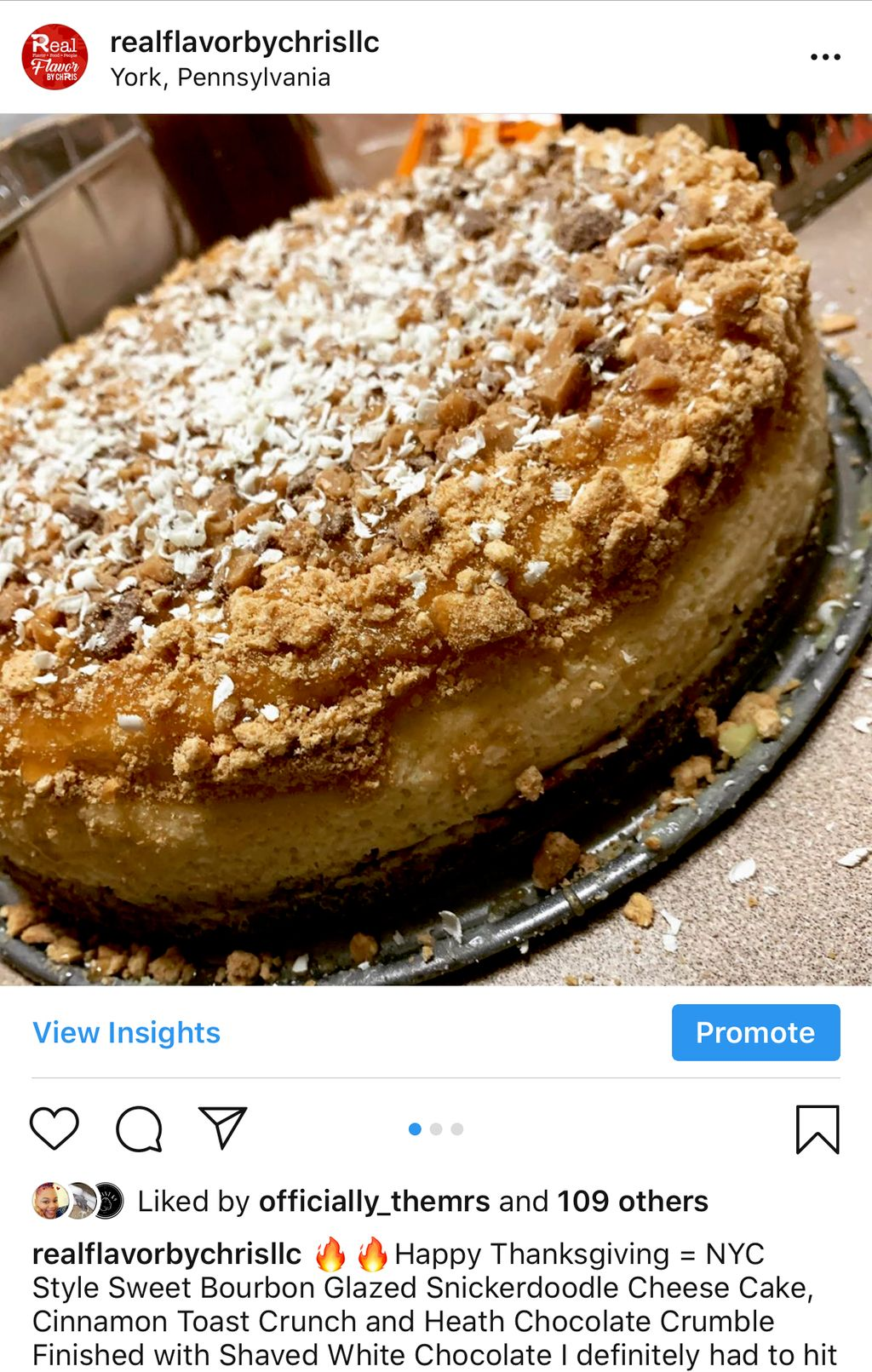 Snickerdoodle Cheese Cake