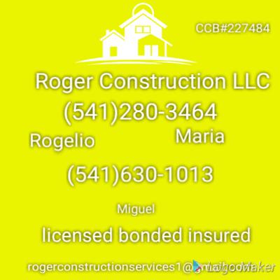 Avatar for Roger Construction LLC Prineville, OR Thumbtack