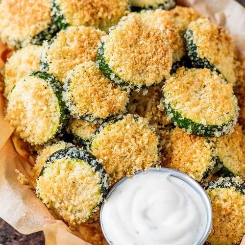 Fried Zucchini w/ Dill Sauce