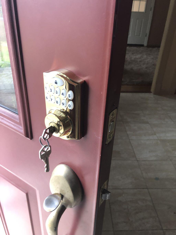 Digital Deadbolt Lock Installation