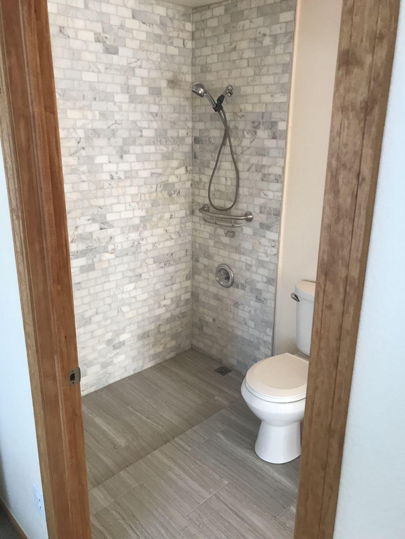 Curb-less shower