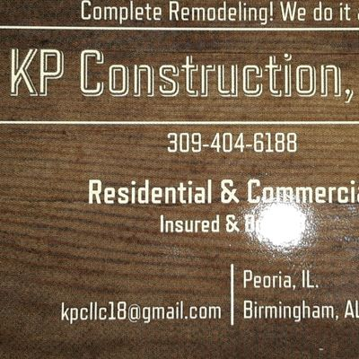 Avatar for KP Construction Peoria, IL Thumbtack