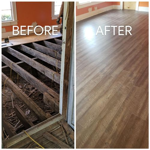 Before & After (New Vinyl Plank)