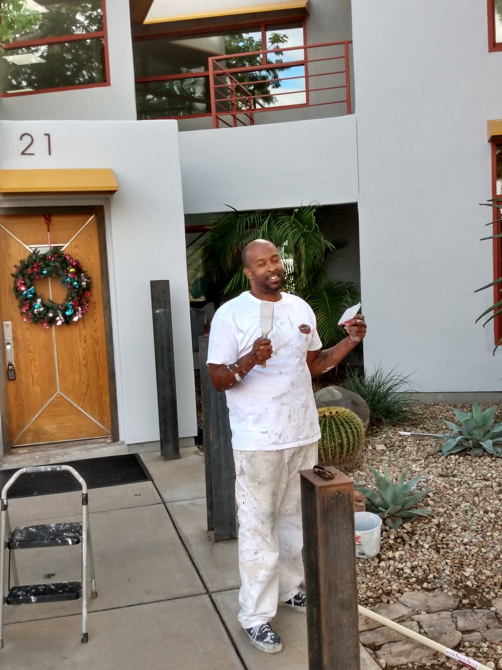 Ex- Mayor of tempe home in and out