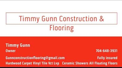 Avatar for Timmy Gunn Construction & Flooring Gastonia, NC Thumbtack