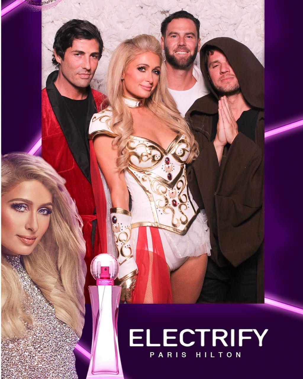 Paris Hilton costume party